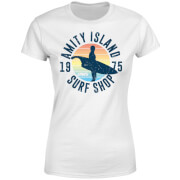 T-Shirt Femme Les Dents de la mer - Amity Surf Shop - Blanc
