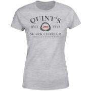 Jaws Quint's Shark Charter Dames T-shirt - Grijs