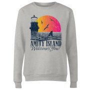Jaws Welcome To Amity Island Women's Sweatshirt - Grey