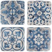 Sass & Belle Set Of 4 Mediterranean Mosaic Santorini Coasters