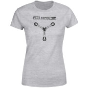 Camiseta Regreso al futuro Powered By Flux Capacitor - Mujer - Gris