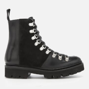 Grenson Women's Nanette Leather Hiking Lace Up Boots - Black