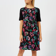 PS Paul Smith Women's Acapulco Print T Dress - Black - L - Black