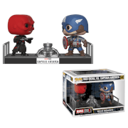 Figurine Pop! Captain America vs Red Skull Movie Moment Marvel