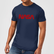 NASA Worm Red Logotype T-Shirt - Navy
