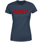T-Shirt Femme NASA Worm Logotype - Bleu Marine