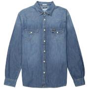 Wrangler Men's Western Denim Shirt - Mid Indigo