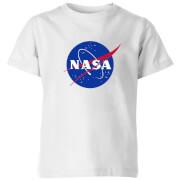 NASA Logo Insignia Kids' T-Shirt - White