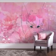 Disney Tinkerbell Watercolour Rose Wall Mural