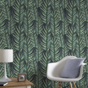 Superfresco Easy Green Tropical Palm Leaves Wallpaper
