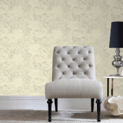 Fresco Cream/Grey Vintage World Map Wallpaper