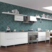Contour Silver Lustro Bathroom/Kitchen Wallpaper