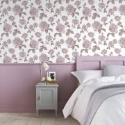Boutique Pale Pink Countess Floral Wallpaper