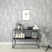Boutique Silver Industrial Texture Wallpaper