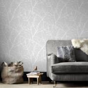 Superfresco Easy Grey Innocence Floral Wallpaper