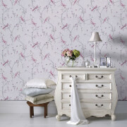 Superfresco Easy Lilac Songbird Floral Wallpaper