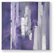 Art for the Home Purple Harmony Framed Printed Canvas