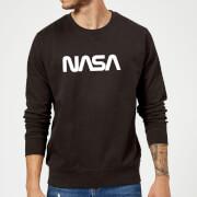 NASA Worm White Logotype Sweatshirt - Black