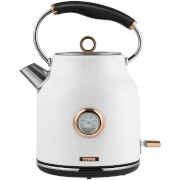 Tower 1.7L Stainless Steel Temperature Dial Kettle - White/Rose Gold