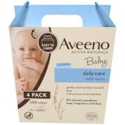 Aveeno Baby Daily Care Baby Wipes 4 Pack (288 Wipes)