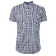 Broken Standard Men's Montgomery Checked Shirt - Blue