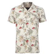 Broken Standard Men's Jason Tropical Shirt - Off White