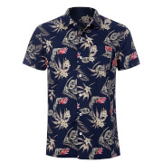 Broken Standard Men's Jason Tropical Shirt - Navy