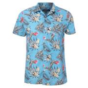 Broken Standard Men's Jason Tropical Shirt - Light Blue