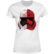 Star Wars Cubist Trooper Helmet Weiß Damen T-Shirt - Weiß