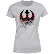Star Wars Shattered Emblem Damen T-Shirt - Grau