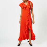 Ganni Women's Clark Dress - Big Apple Red