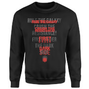 Star Wars Dark Side Echo Schwarz Pullover - Schwarz