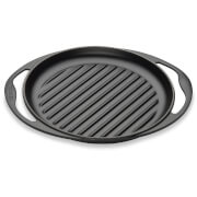 Le Creuset Cast Iron Round Skinny Grill - 25cm - Satin Black