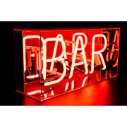 Acrylic Box Neon Bar - Red