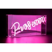 """Acryl-Box Neon """"PROSECCO"""" – Rosa"""