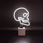 Skull Neon Light - Concrete Base