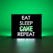 Eat Sleep Game Repeat LED Light