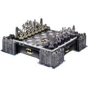 DC Comics Batman Pewter Chess Set with Illuminating Bat Signal