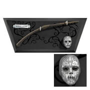 Harry Potter Bellatrix Lestrange's Wand with Wall Display and Mini Mask