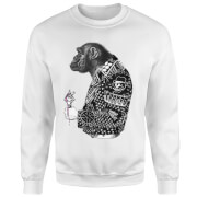 Rum Knuckles Punky Monkey Sweatshirt - White