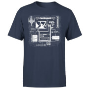 Magic The Gathering Card Grid T-shirt - Navy