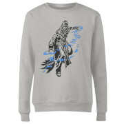 Magic The Gathering Jace Character Art Damen Pullover - Grau