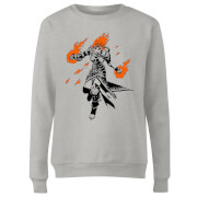 Magic The Gathering Chandra Character Art Damen Pullover - Grau
