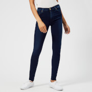 7 For All Mankind Women's High Waist Skinny Jeans - Indigo - W26 - Blue