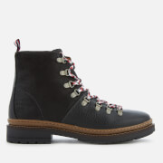Tommy Hilfiger Men's Elevated Outdoor Leather Hiking Boots - Black
