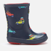 Joules Toddlers' Printed Wellies - Navy Scout and About - UK 7 Toddler - Navy