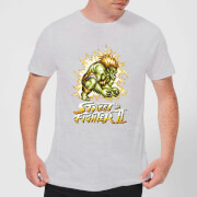 Street Fighter Blanka 16-bit Men's T-Shirt - Grey