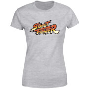 Street Fighter Logo Women's T-Shirt - Grey