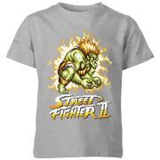 Street Fighter Blanka 16-bit Kids' T-Shirt - Grey