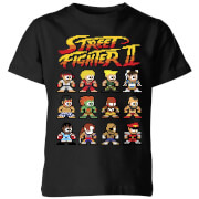 T-Shirt Enfant Personnages 2 Pixels Street Fighter - Noir